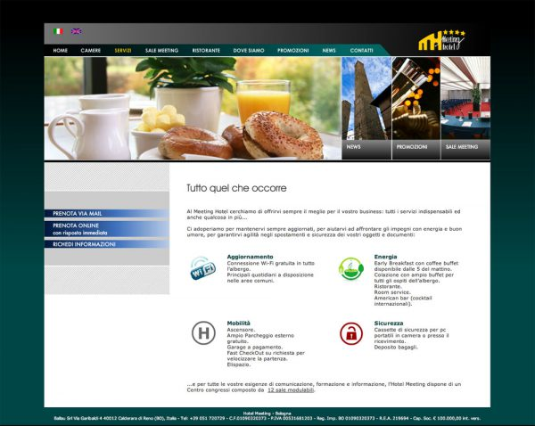 MEETING HOTEL – sito web
