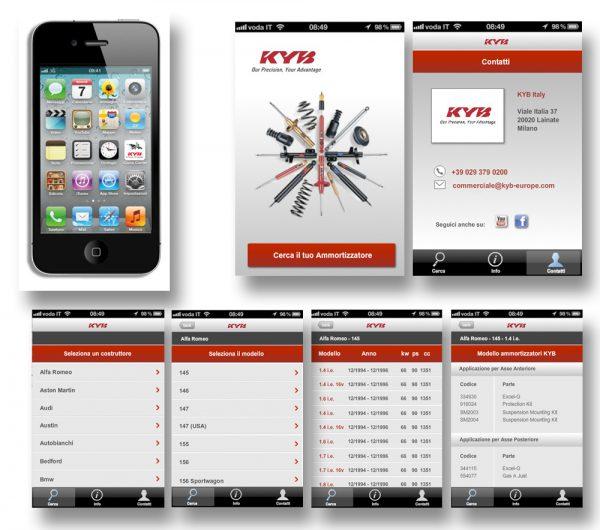 KYB ITALY – APP per smartphone
