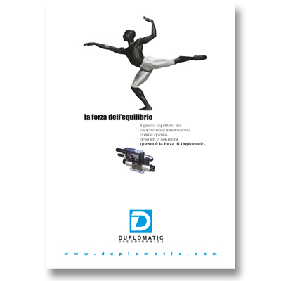 DUPLOMATIC OLEODINAMICA  – pagina pubblicitaria