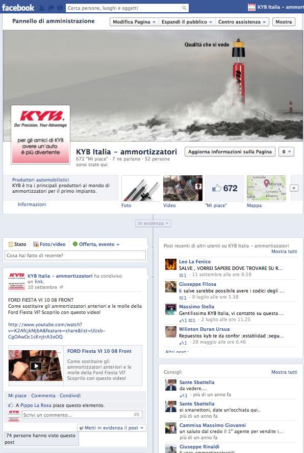 KYB ITALY – pagina Facebook