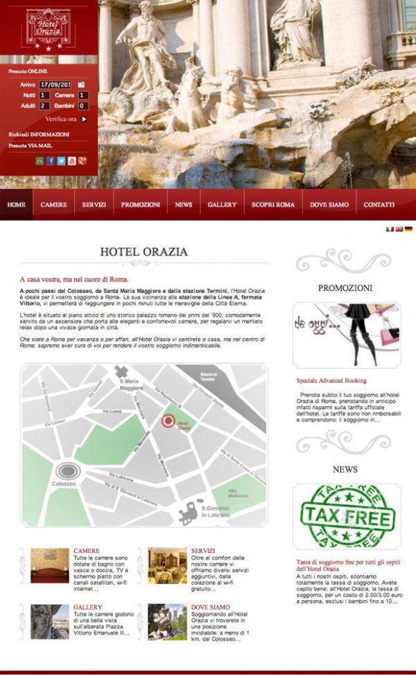 HOTEL ORAZIA – sito web