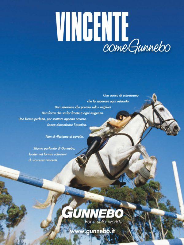 """GUNNEBO – campagna 2008: soggetto """"Vincente"""""""