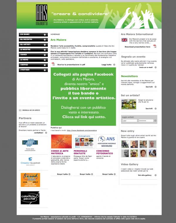 ARS MAIORA – ASSOCIAZIONE CULTURALE – portale web