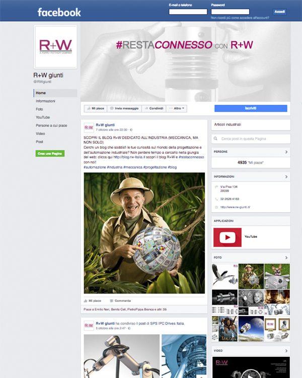 R+W ITALIA – pagina Facebook