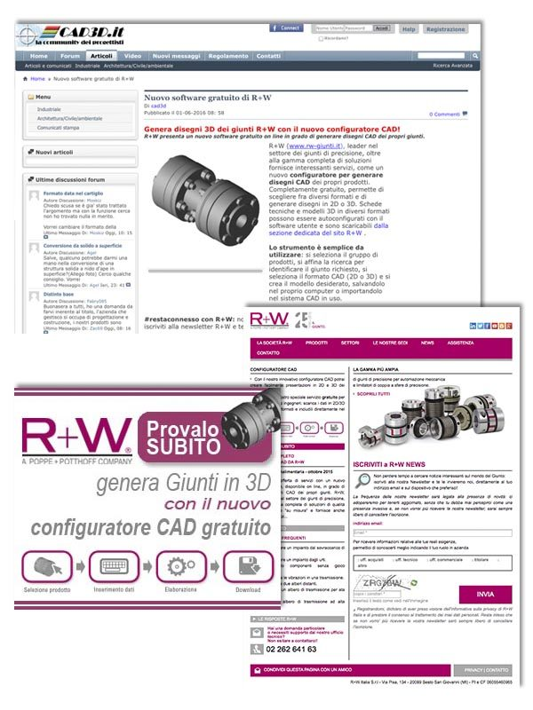 R+W ITALIA – banner & landing page