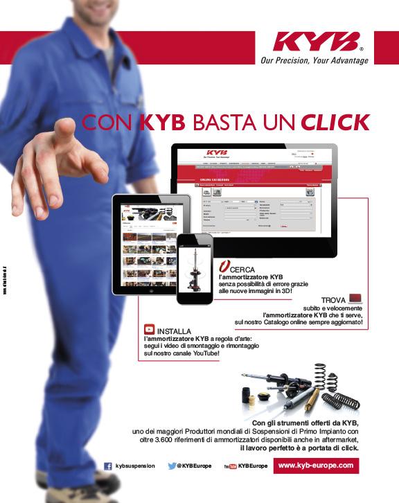 KYB ITALY – pagina pubblicitaria (2017)