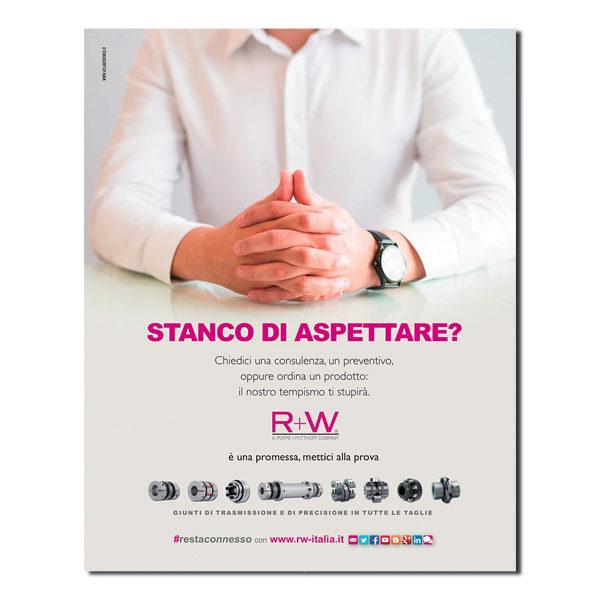 R+W – pagina pubblicitaria (2019)