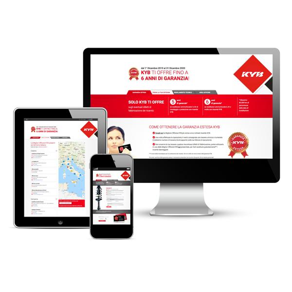 KYB ITALY – promozione Garanzia Estesa: comunicazione minisito (2020)