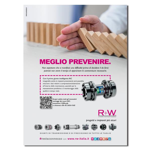 R+W – pagina pubblicitaria (2021)